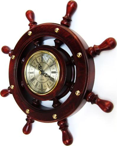 Часы на Митинском Радиорынке в павильоне 322 «Тысяча мелочей» - Большой штурвал.
