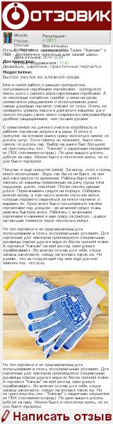 Отзыв о перчатках трикотажные Тракт «Капкан» с ПВХ на сайте «Отзовик»