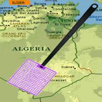 Фотография мухобойки на фоне карты Алжира