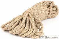 Фотография толстой верёвки на белом фоне. Автор - Игорь Веснинов