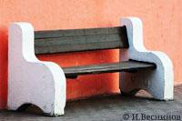Фотография скамейки в городе Красногорске у ДК «Подмосковье». Автор фото Игорь Веснинов.