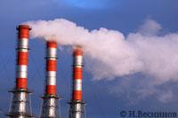 Фотография дымящих труб в Тушино. Автор фото Игорь Веснинов.