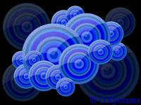 Иллюстрация «Синие векторные круги на черном фоне». Автор Ольга Куклина / Фотобанк Лори